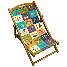 Buy John Lewis Alphabet Children's Deck Chair Online at johnlewis.com