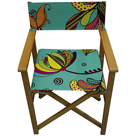 Buy John Lewis Rangoli Director's Chair, Turquoise Online at johnlewis.com