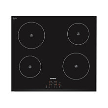 Buy Siemens EH631BA68B Induction Hob, Black Glass Online at johnlewis.com