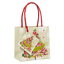 Buy Belly Button Christmas Tree Gift Bag, Small Online at johnlewis.com