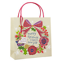 Buy Belly Button Wreath Gift Bag, Medium Online at johnlewis.com