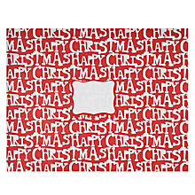 Buy Posh Post Happy Christmas Padded Envelope, Red, Large Online at johnlewis.com