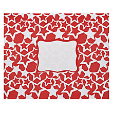 Buy Posh Post Stars Padded Envelope, Red Online at johnlewis.com
