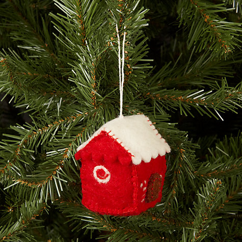 Buy Felt So Good Gingerbread House Tree Decoration Online at johnlewis.com