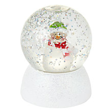 Buy John Lewis Colour Changing Snowman Snow Globe Online at johnlewis.com
