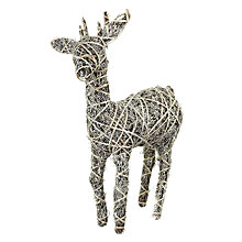 Buy John Lewis Glitter Rattan Reindeer, Small Online at johnlewis.com