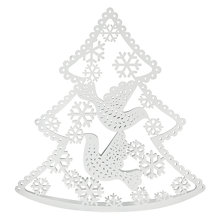 Buy John Lewis Laser Cut Vintage Metal Christmas Tree, White Online at johnlewis.com