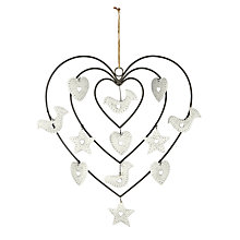 Buy John Lewis Metal Wire Heart Hanging Decoration Online at johnlewis.com