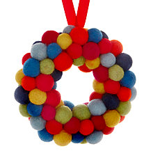 Buy Felt So Good Mini Christmas Wreath Tree Decoration, Multi Online at johnlewis.com