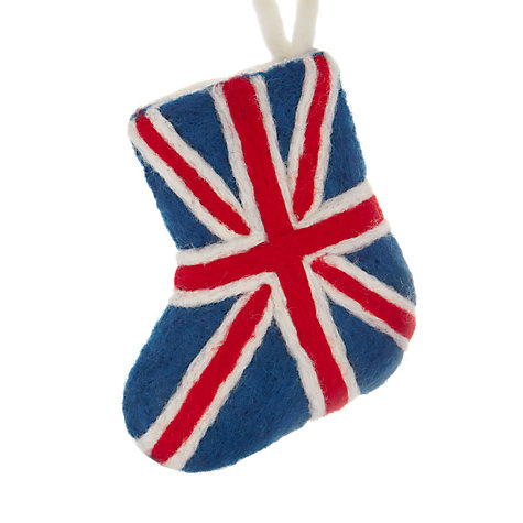 Buy Felt So Good Union Jack Stocking Tree Decoration Online at johnlewis.com