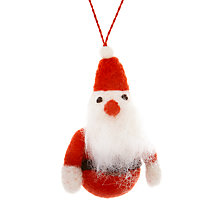 Buy Felt So Good Mini Santa Tree Decoration Online at johnlewis.com