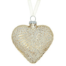 Buy John Lewis Ribbed Mercurised Heart Tree Decoration Online at johnlewis.com