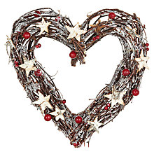 Buy John Lewis Heart Twig Wreath, 30cm Online at johnlewis.com