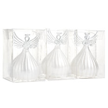 Buy John Lewis Glass Angel Tree Decoration, Assorted Online at johnlewis.com