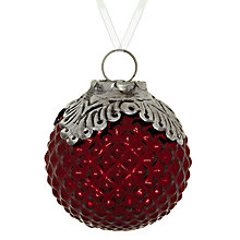 Buy John Lewis Mercurised Dimpled Glass Bauble Online at johnlewis.com