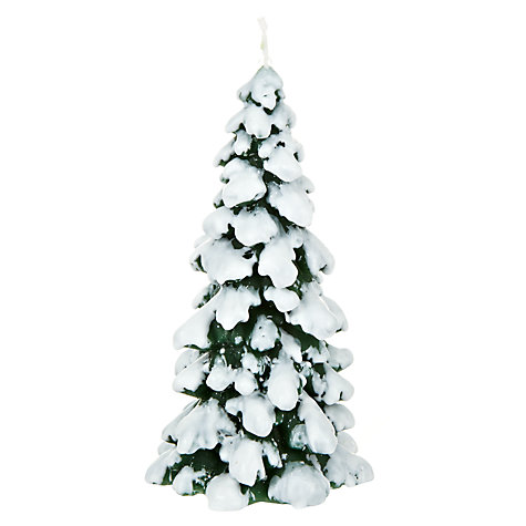 Buy John Lewis Green Snowcapped Tree Candle Online at johnlewis.com