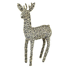 Buy John Lewis Glitter Rattan Reindeer, Large Online at johnlewis.com