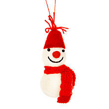 Buy Felt So Good Hanging Snowman Tree Decoration Online at johnlewis.com