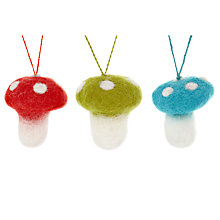 Buy Felt So Good Mini Toadstools in Bag Tree Decorations, Set of 3 Online at johnlewis.com