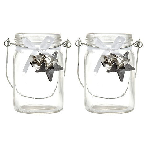 Buy John Lewis Silver Bell Tealight Jar Online at johnlewis.com