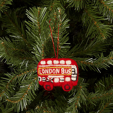 Buy Felt So Good London Bus Tree Decoration Online at johnlewis.com