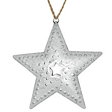 Buy John Lewis Aluminium Star Tree Decoration, Silver Online at johnlewis.com