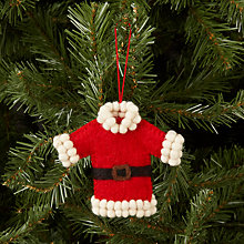 Buy Felt So Good Santa Coat Tree Decoration Online at johnlewis.com