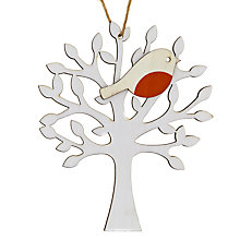 Buy House by John Lewis Laser Cut Robin In Tree Decoration Online at johnlewis.com