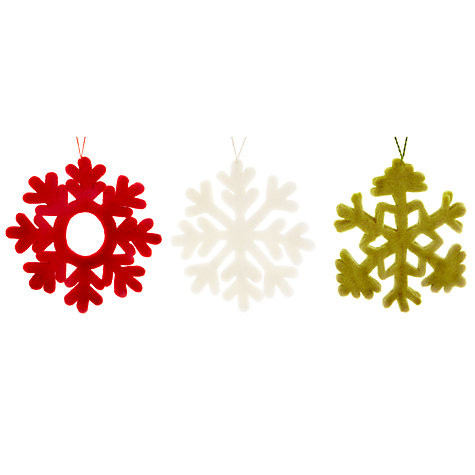 Buy Felt So Good Snowflakes Tree Decoration, Assorted Online at johnlewis.com