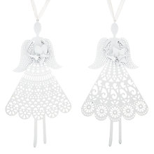 Buy John Lewis Die Cut Angel Tree Decoration, White, Assorted Online at johnlewis.com