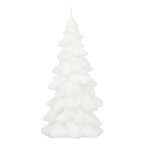 Buy John Lewis White Snowcapped Tree Candle Online at johnlewis.com