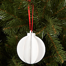 Buy House by John Lewis Wooden Bauble, White Online at johnlewis.com