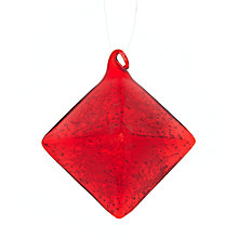 Buy House by John Lewis Shredded Glass Diamond Tree Decoration Online at johnlewis.com