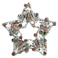 Buy John Lewis Frosted Star Wreath, 43cm Online at johnlewis.com