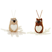 Buy Felt So Good Owl Tree Decoration, Assorted Online at johnlewis.com