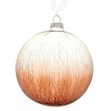 Buy John Lewis Crackle Glass Bauble Online at johnlewis.com