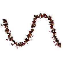 Buy John Lewis Red Berry Star Garland, 150cm Online at johnlewis.com