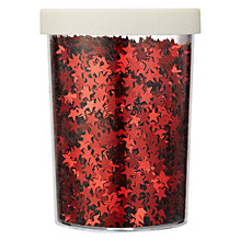 Buy John Lewis Red Glitter Stars, 80g Online at johnlewis.com