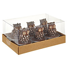 Buy John Lewis Owl Tealights, Set of 6 Online at johnlewis.com