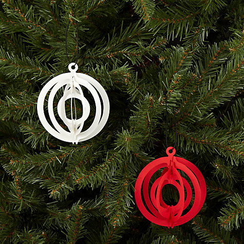 Buy Livingly Fold Out Sphere Tree Decorations, Set of 2 Online at johnlewis.com