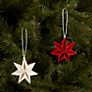 Buy Livingly Mouritsen Hanging Star Decorations, Set of 2 Online at johnlewis.com