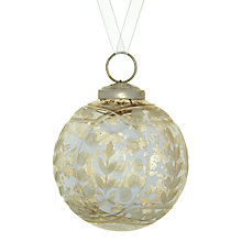 Buy John Lewis Vintage Glass Bauble, Silver Online at johnlewis.com