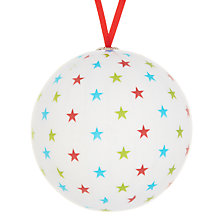 Buy House by John Lewis Decoupage Star Bauble, Multi Online at johnlewis.com