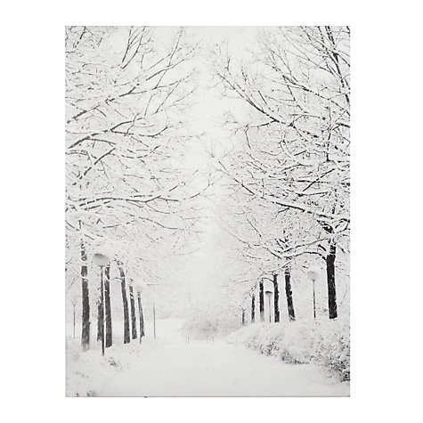 Buy John Lewis Battery Operated Tree-lined Avenue Canvas Online at johnlewis.com