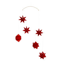 Buy Livingly Mouritsen Star Decoration Mobile, Red Online at johnlewis.com