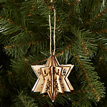 Buy House by John Lewis Laser Cut Star Tree Decoration Online at johnlewis.com