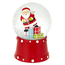 Buy John Lewis Musical Santa Snow Globe Online at johnlewis.com