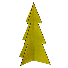 Buy Design Ideas Festive Wooden Christmas Tree, Medium, Pale Green Online at johnlewis.com