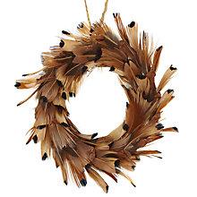 Buy John Lewis Mini Feather Wreath Tree Decoration, Brown Online at johnlewis.com
