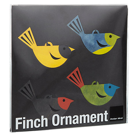 Buy Design Ideas Large Bird Hanging Decorations, Set of 4 Online at johnlewis.com